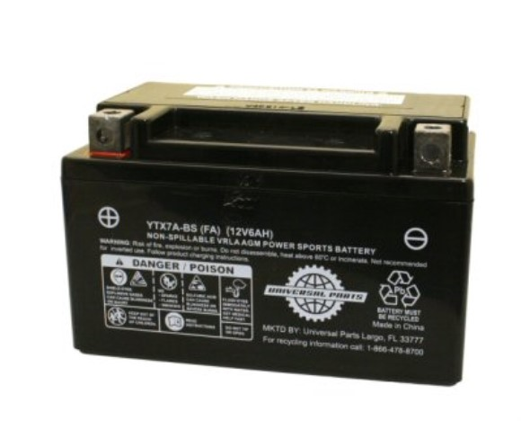 12V 6AH Battery Factory Activated, Part #104-43