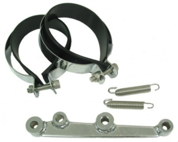 Bracket Set & Hardware for Round HP Exhausts, Part #190-38