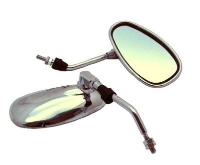 Scooter/Moped Retro Chrome Mirror Set, Part #171-26