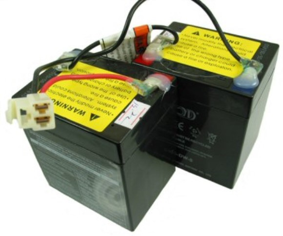 Razor E100 Replacement Scooter Batteries (Set of 2 - 12V 5