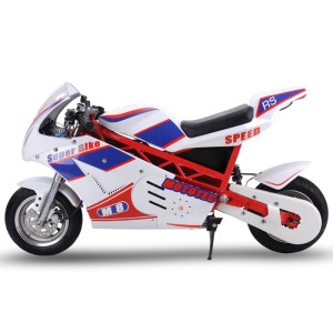 MotoTec 1000w 48v Electric Superbike white