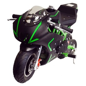 MotoTec Cali Gas Pocket Bike 40cc 4-Stroke MT-GP-Cali_Green