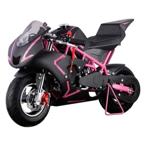 MotoTec Cali 40cc 4-Stroke Gas Pocket Bike pink