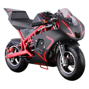 MotoTec Cali Gas Pocket Bike 40cc 4-Stroke MT-GP-Cali_Red