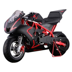 MotoTec Cali 40cc 4-Stroke Gas Pocket Bike red