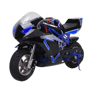 MotoTec Gas Pocket Bike GT 49cc 2-Stroke MT-Gas-GT_Blue