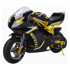 MotoTec Gas Pocket Bike GT 49cc 2-Stroke MT-Gas-GT_Yellow