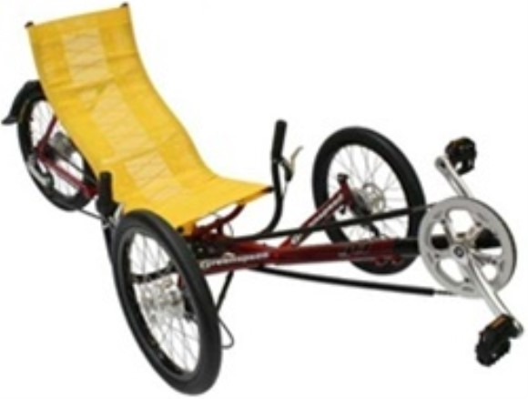 Greenspeed GT1 Folding Recumbent 8 Speed Tricycle