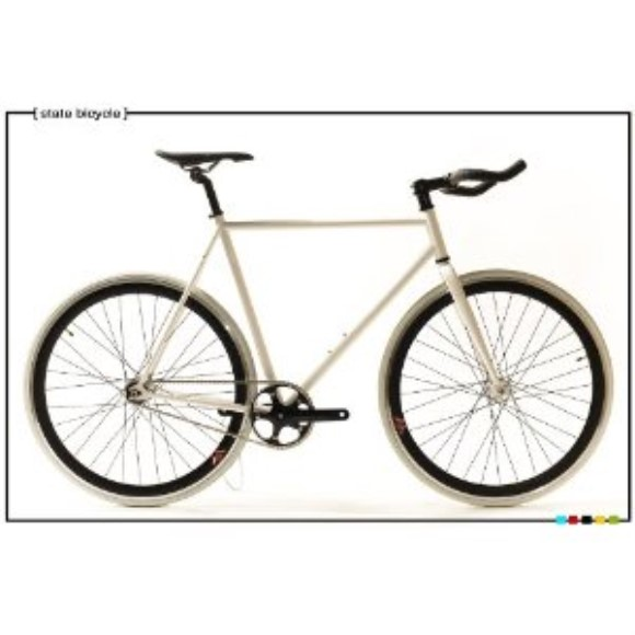 State Bicycle Co. - TROOPER White - Fixed Gear Bike 55 cm