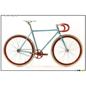State Bicycle Co. - CLASSIC Blue - Fixed Gear Bike 52 cm