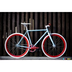 State Bicycle Co. - CLASSIC Blue - Fixed Gear Bike 49 cm