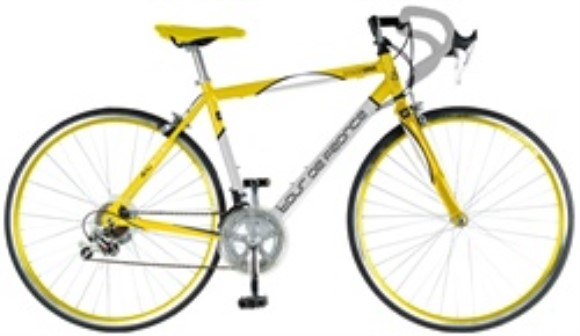 Tour De France Stage One Yellow Jersey 16 Speed Road Bike