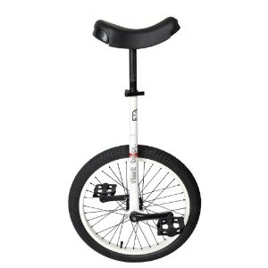 "Sun Flat Top Street Unicycle 24"" Gloss White"